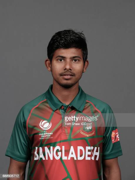 Mosaddek Hossain of Bangladesh poses for a picture during the Bangladesh Portrait Session for the ICC Champions Trophy at Grand Hyatt on May 26 2017...