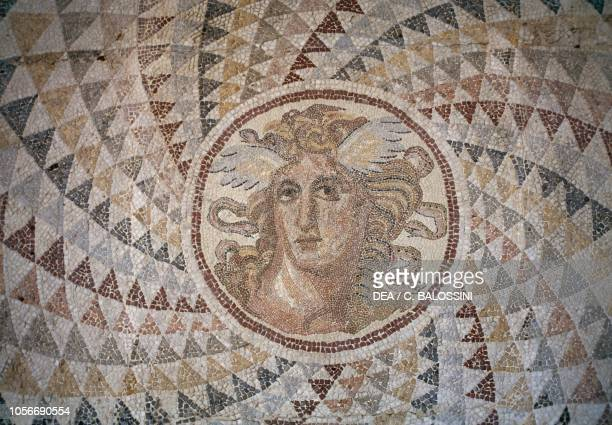 Mosaic floor with Medusa's head, Athens, Greece. Greek and Roman civilisation, 2nd century BC.