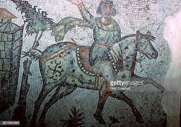 Mosaic from Carthage depicting a Vandal horseman Note his very germanic clothing which probably indicates that he is a member of the nobility 5th...