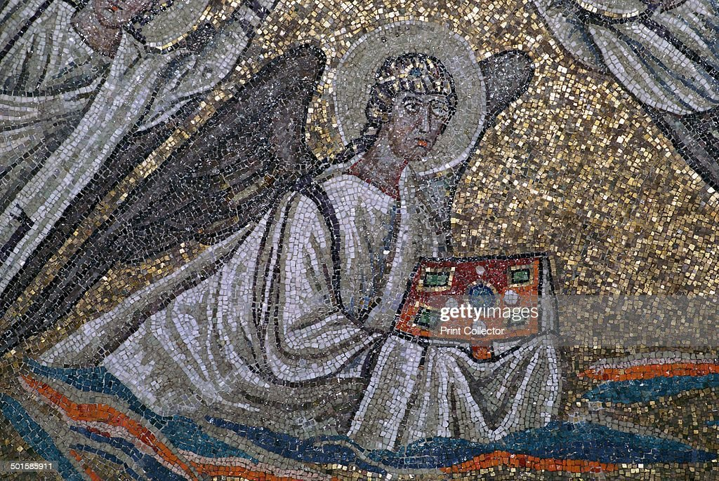 Mosaic Of An Angel The Symbol Of St Matthew The Evangelist In The