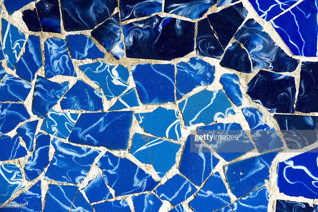 Mosaic of broken tiles : Stock Photo