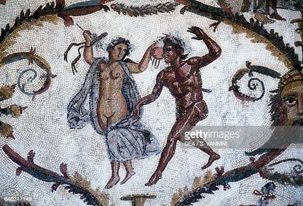 Mosaic of grotesque figures Roman Empire from Sousse Tunisia Roman civilisation Sousse Musée Archéologique