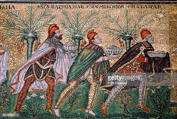 Mosaic of the adoration of the magi in the basilica of Sant'Apollinare Nuovo 6th century