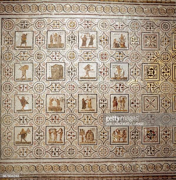 Mosaic of the months from Thysdrus El Djem Tunisia Roman civilisation 3rd century AD Sousse Musée Archéologique