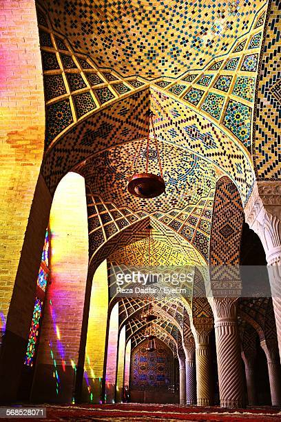 mosaic on ceiling in nasir al-mulk mosque - tehran stock pictures, royalty-free photos & images