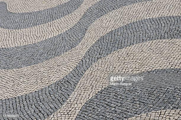Mosaic pavement.
