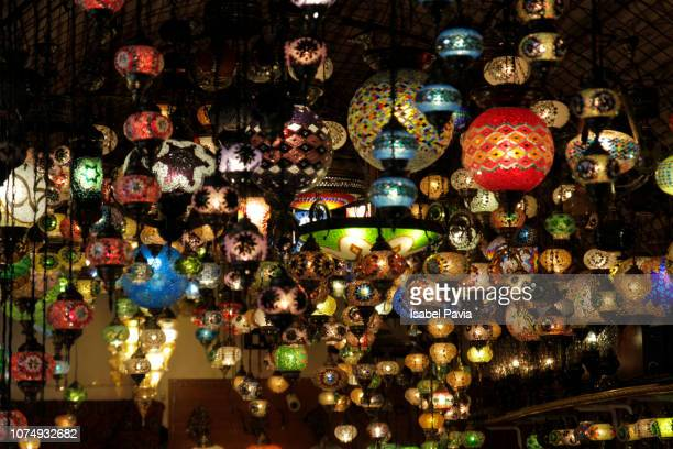 mosaic turkish lanterns - drawing art product stock pictures, royalty-free photos & images
