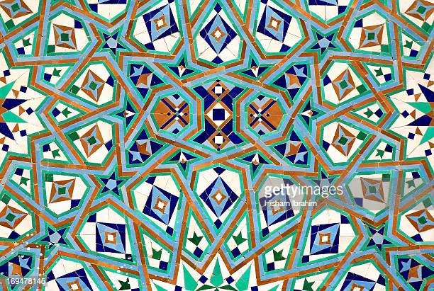 Mosaic wall, Hassan II Mosque-Casablanca, Morocco