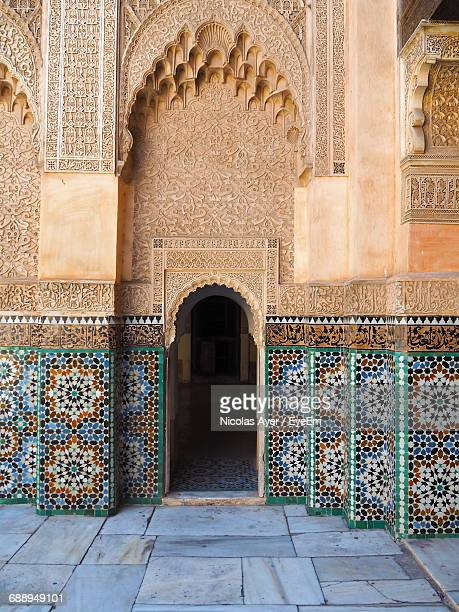 Mosaic Wall Of Ben Youssef Madrasa