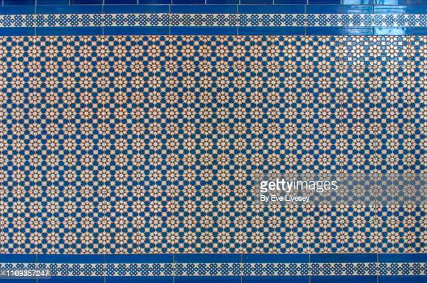 mosaic wall tiles - mediterranean culture stock pictures, royalty-free photos & images