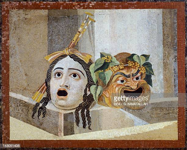 Mosaic with Theatrical Masks from Villa Adriana Lazio Roman Civilization Roma Museo Capitolino