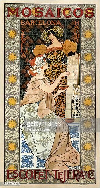 Mosaicos EscofetTejera 1900 Artist Riquer Inglada Alejandro de