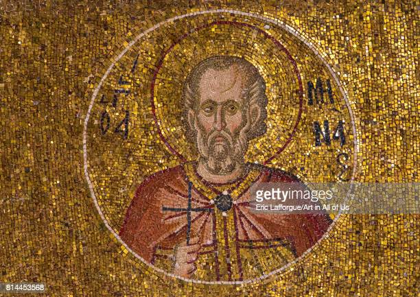 Mosaics and paintings in the byzantine church of st Savior in Chora Edirnekap Istanbul Turkey on April 27 2014 in Istanbul Turkey