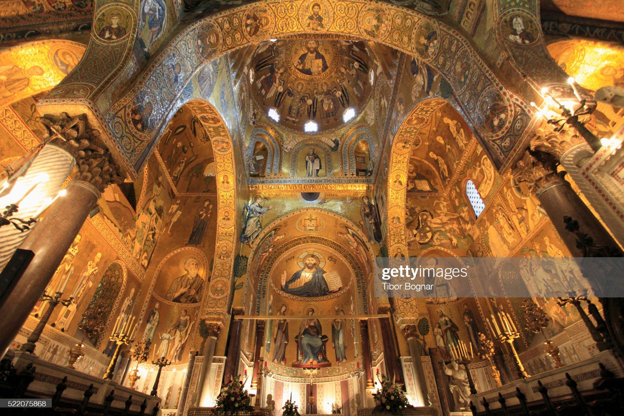 Mosaics in Capella Palatina in Palermo, Sicily : Foto stock