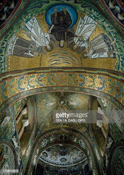 Mosaics in the apse vault 538545 Basilica of San Vitale founded 526 Ravenna EmiliaRomagna Italy