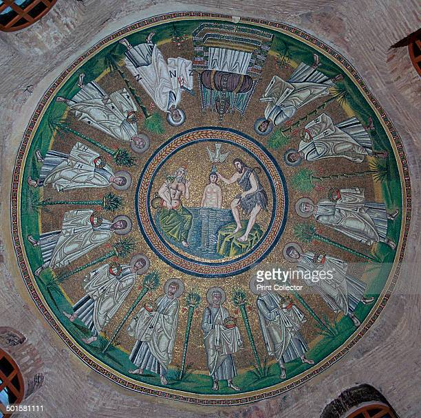 Mosaics in the dome of the Baptistry of the Arians in Ravenna 5th century