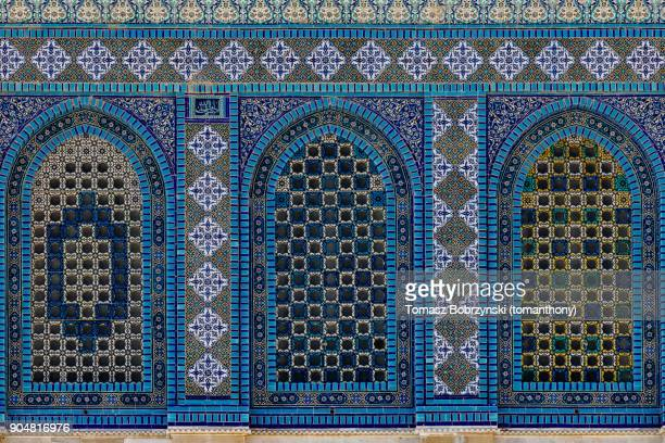 mosaics of the dome of the rock in jerusalem - arabic style stock pictures, royalty-free photos & images