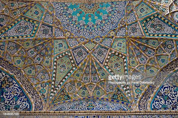 mosaics of the friday mosque in herat, afghanistan - friday mosque stock pictures, royalty-free photos & images