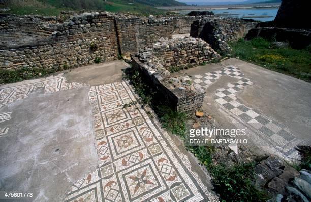 Mosaics Roman villa at Contrada Larderia Roggiano Gravina Calabria Italy Roman civilisation Imperial age