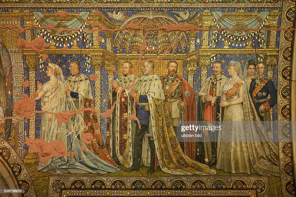 Mosaik Berlin mosaik gedenkhalle alter turm kaiser wilhelm gedaechtniskirche