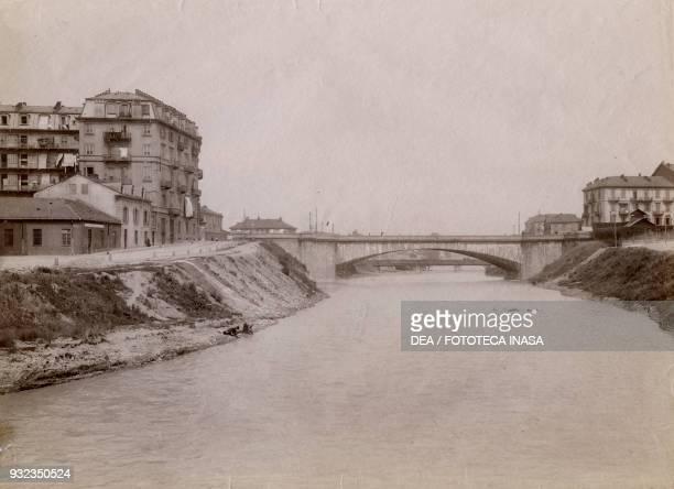 Mosca bridge over the Dora Riparia river Turin Piedmont Italy photograph from Istituto Italiano d'Arti Grafiche Bergamo 19091911