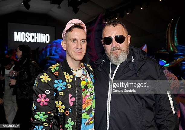 Moschino Creative Director Jeremy Scott and producer/director Michel Gaubert attend the Moschino Spring/Summer17 Menswear and Women's Resort...