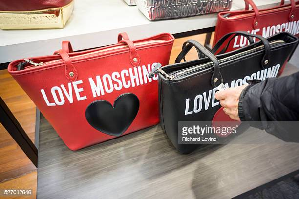 Moschino designer handbags on sale at the Saks Fifth Avenue Off Fifth discount spin-off brand in New York, seen on Sunday, March 6, 2016. The 47,000...