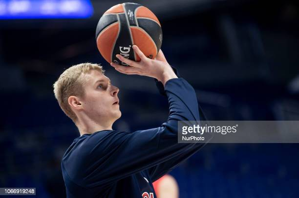 Moscow Andrei Lopatin during Turkish Airlines Euroleague match between Real Madrid and CSKA Moscow at Wizink Center in Madrid Spain November 29 2018