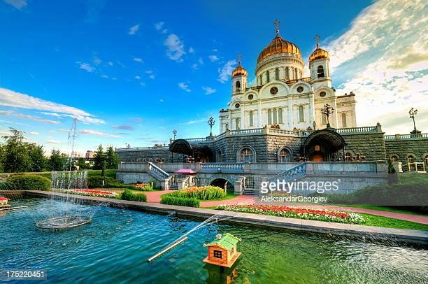 moscovo, catedral de jesus cristo salvador - cristo redentor imagens e fotografias de stock
