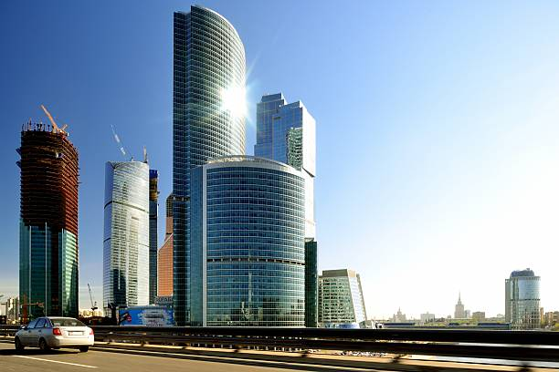 Moscow City At Sunny Day Wall Art