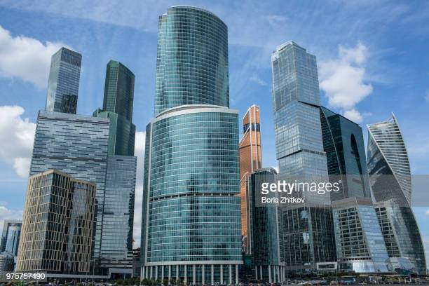 moscow city. - moscow international business center stock photos and pictures