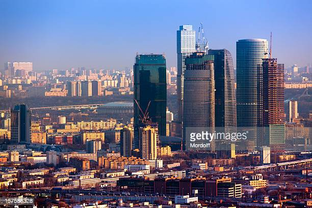 Moscow City skyscrapers under construction