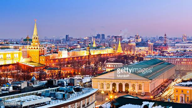 Moscow cityscape with Kremlin and Manege