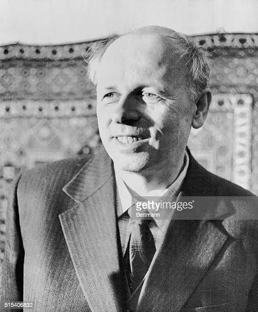 Moscow: Dissident Soviet physicist Andrei D. Sakharov, father of the Soviet hydrogen bomb, breaks into a grin after hearing that he was awarded the...