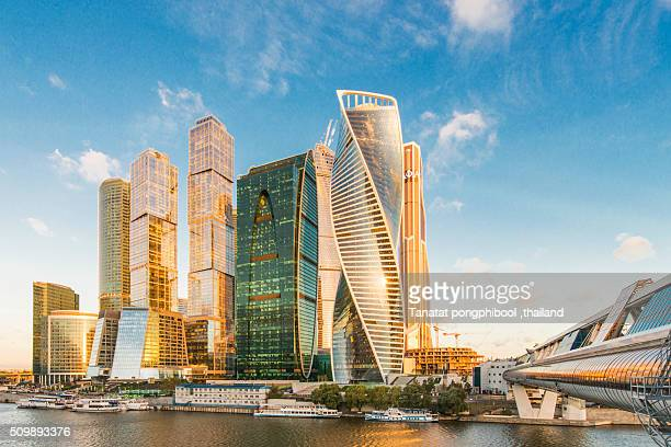 moscow international business center. - moscow international business center stock photos and pictures