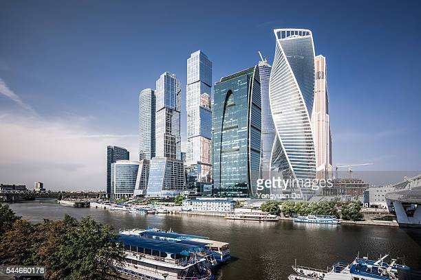 moscow international business center - russia stock pictures, royalty-free photos & images
