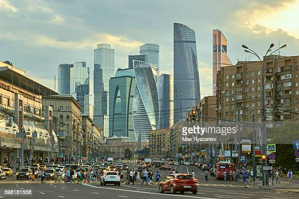 moscow international business center - moscow international business center stock photos and pictures