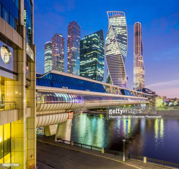 moscow international business centre (mibc), also known as moscow city - moscow russia stock pictures, royalty-free photos & images