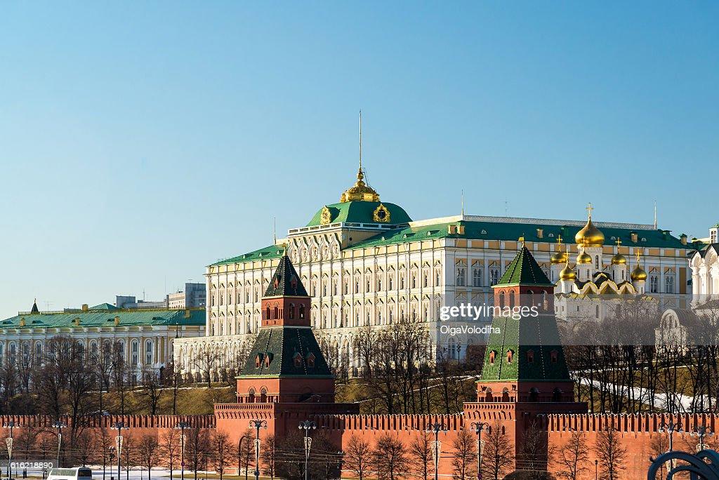 Moscow Kremlin and Grand Palace, Russia : Bildbanksbilder