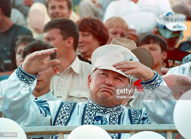 Moscow Mayor Yuri Luzhkov presides over the third annual International Beer Festival July 24 2001 in Moscow Revelers consumed over five million...