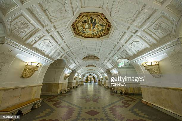Moscow Metro, Moscow, Russia.