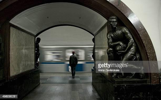 Moscow metro, Ploshchad Revolyutsii station , Moswcow, 2012