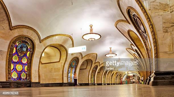 moscow metro - moscú fotografías e imágenes de stock