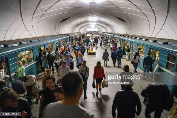 moscow metro station. - moscow metro stock pictures, royalty-free photos & images