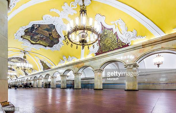 moscow metro station - moscow russia stock pictures, royalty-free photos & images