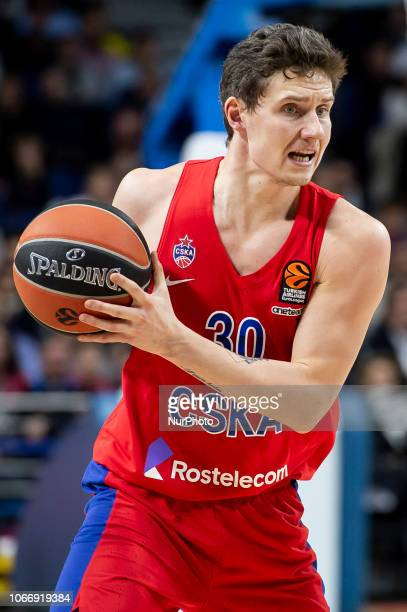 Moscow Mikhail Kulagin during Turkish Airlines Euroleague match between Real Madrid and CSKA Moscow at Wizink Center in Madrid Spain November 29 2018