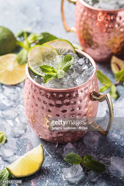 moscow mule cocktail - mula imagens e fotografias de stock