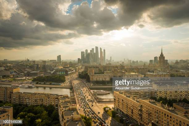 moscow panorama - international landmark stock pictures, royalty-free photos & images