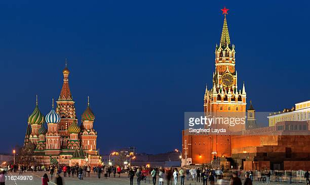 Moscow, Red Square at dusk