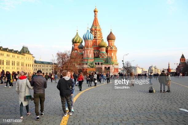 moscow red square - red square stock pictures, royalty-free photos & images